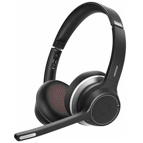 Casque Microphone Sans Fil Bluetooth 5.0 Mpow Hc5 Cvc 8.0 Suppression De Bruit
